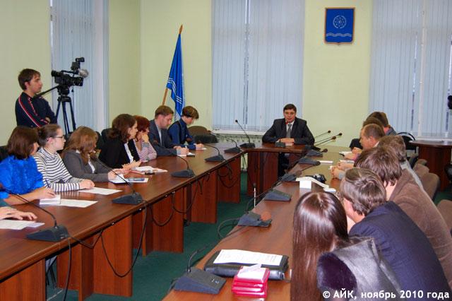 Встреча Авдеева с представителями социально-активной молодёжи Обнинска