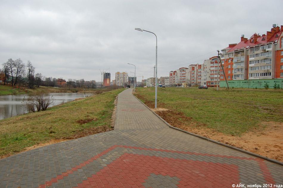 Пешеходная дорожка около Белкинских прудов