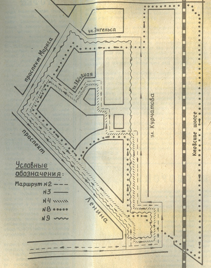 Схема внутригородских