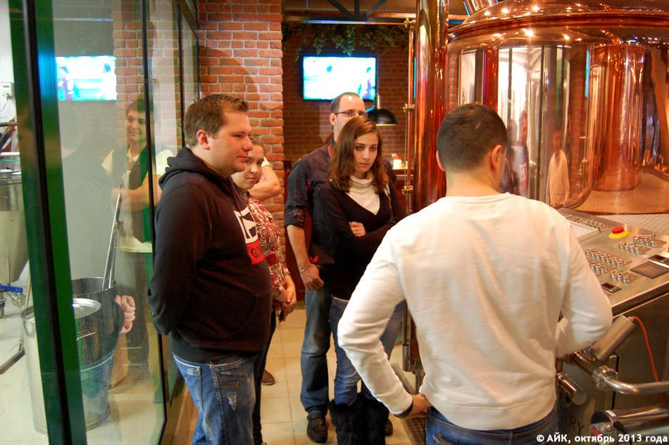 Авторы проекта «Вкусный Обнинск» на экскурсии в ресторане-пивоварне «Каспари Брау»
