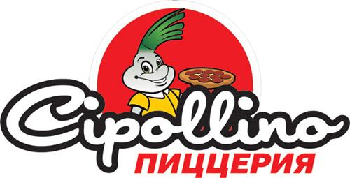 Логотип кафе-пиццерии «Чиполлино» (Cipollino) в городе Обнинске