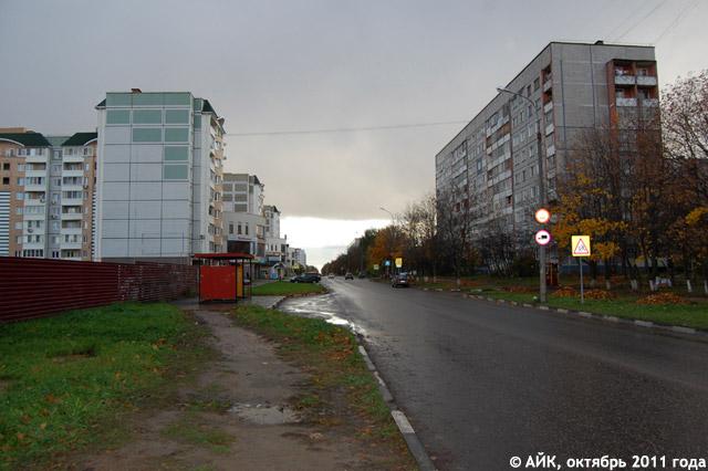 Конец улицы Калужской (вид со стороны проспекта Маркса)