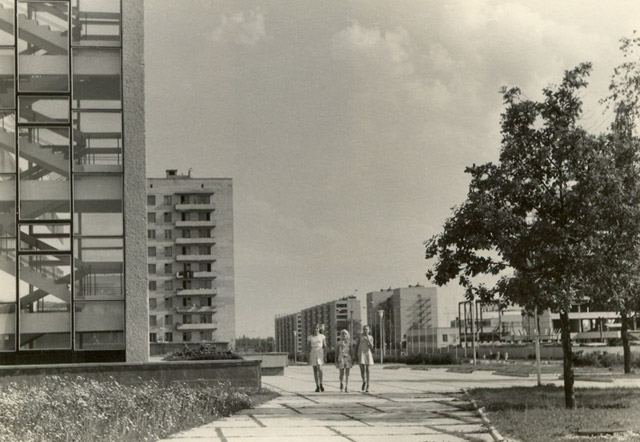 Проспект Ленина в Обнинске в советские годы (площадка около Дворца Культуры)
