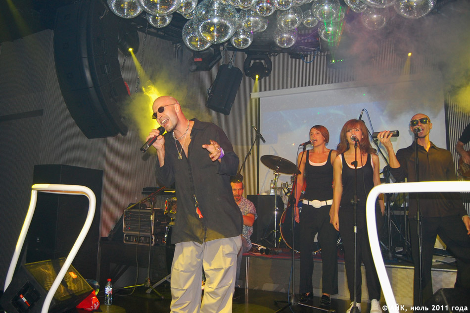 Выступление группы «GуссиЛебеди» в ночном клубе «Да Винчи»: начало концерта