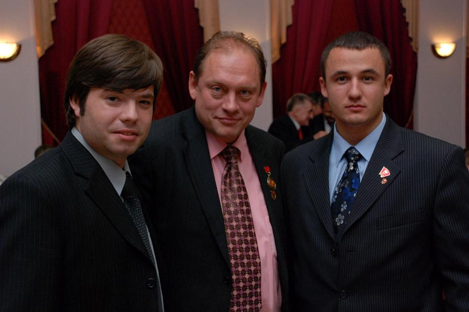 Анатолий Аскольдович Косинский с Евгением Игоревичем Гусаковым и Егором Сергеевичем Якоревым, 28 октября 2008 года
