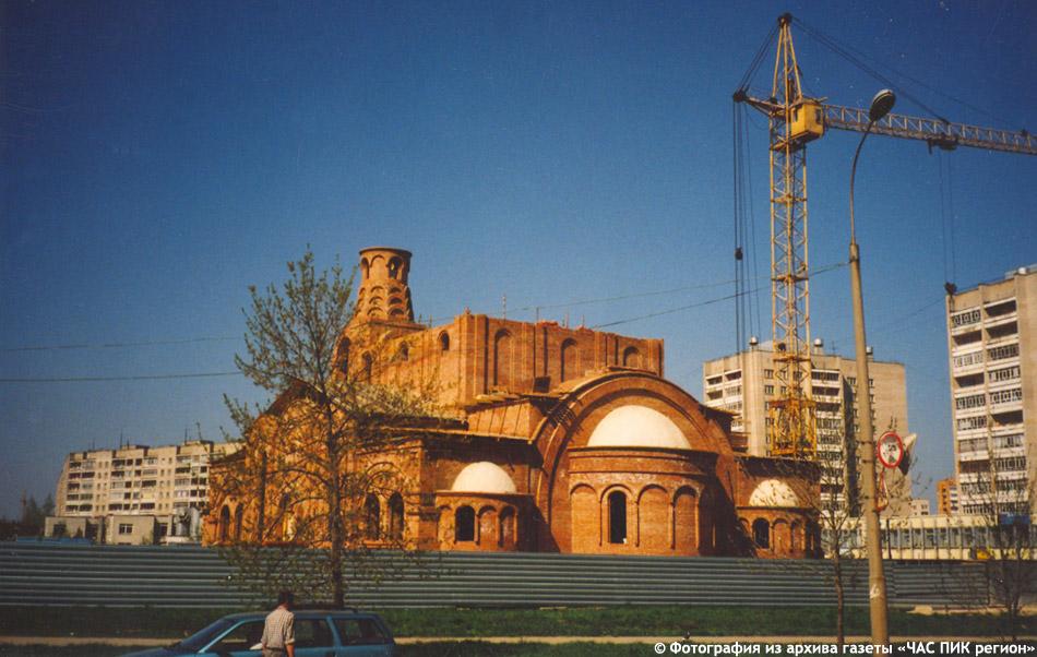 Храм Рождества Христова в городе Обнинске на этапе строительства