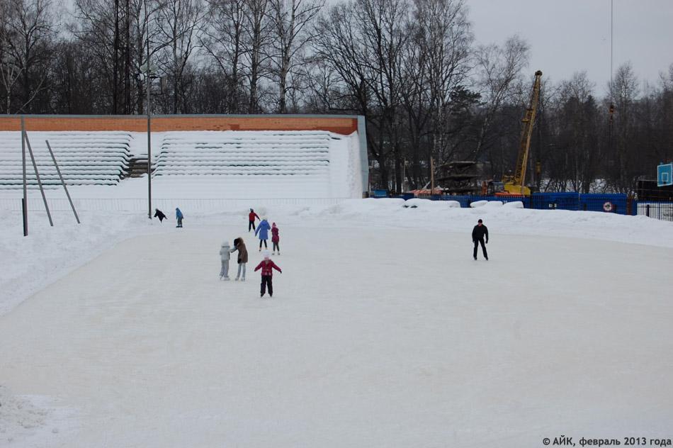 Каток на стадионе «Труд» в городе Обнинске