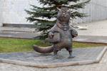 Скульптура «Кот учёный» в городе Обнинске