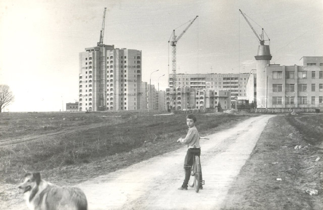Высотные дома в Обнинске на пересечении проспектов Маркса и Ленина в процесс строительства