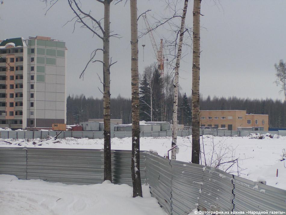 Строящийся 38 микрорайон в городе Обнинске (2007 год)