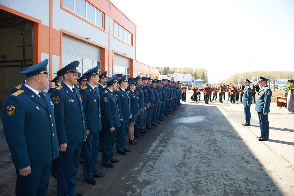 Открытие новой пожарной части на территории муниципальной промзоны Обнинска