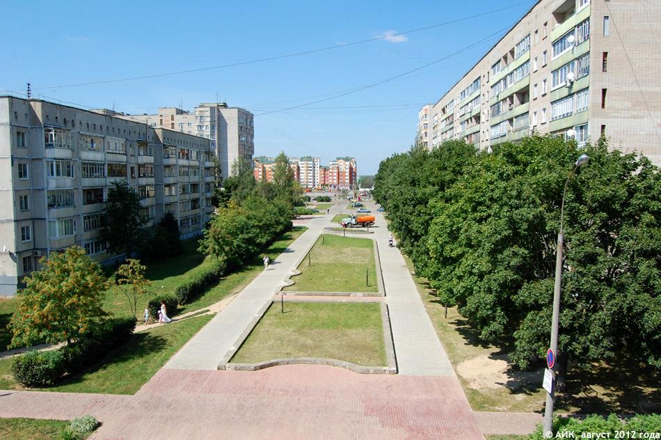 Окриджский бульвар в городе Обнинске