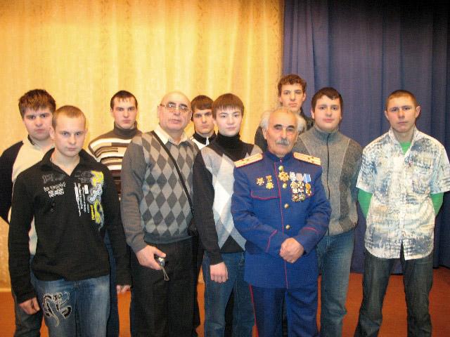 Юрий Григорьевич Петраш в Обнинске на встрече с первокурсниками профессионального лицея № 19 в 2008 году
