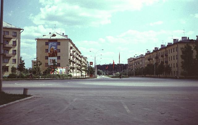 Площадь Преображения в Обнинске в 1971 году
