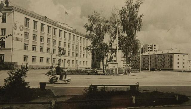 Площадь Преображения в Обнинске в советское время