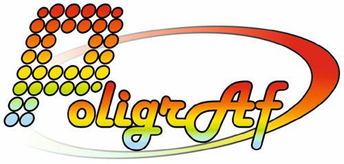 Логотип цифровой полиграфии «PoligrAf» в городе Обнинске