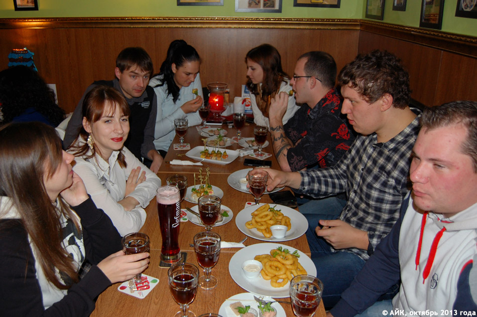Авторы «Вкусного Обнинска» на дегустации в пивном кафе «Квадрюпель»