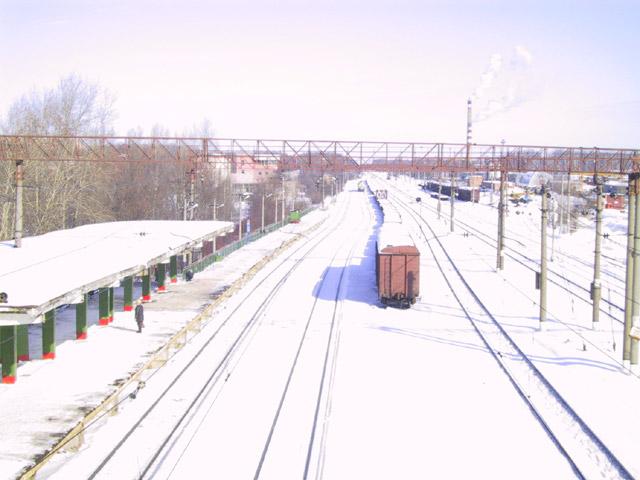Калужская платформа железнодорожной станции «Обнинское» до реконструкции