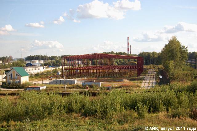 Строящийся стекольный (стеклотарный) завод в городе Обнинске