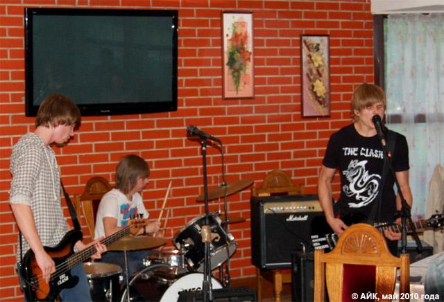 Музыкальная группа «Слёрм» (The Slurm) в городе Обнинске