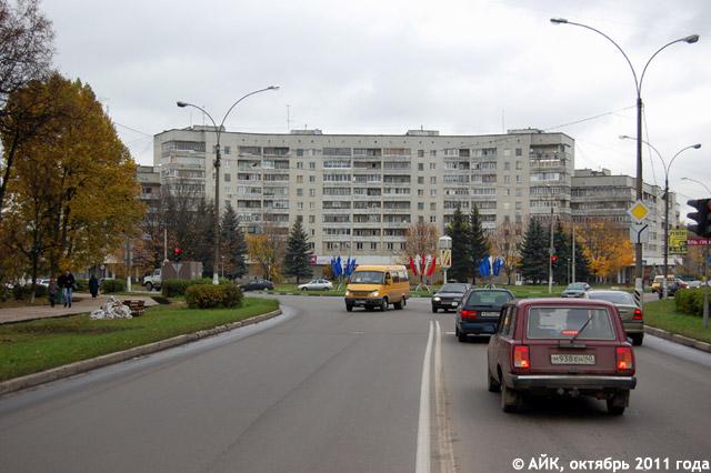 Треугольная площадь в Обнинске