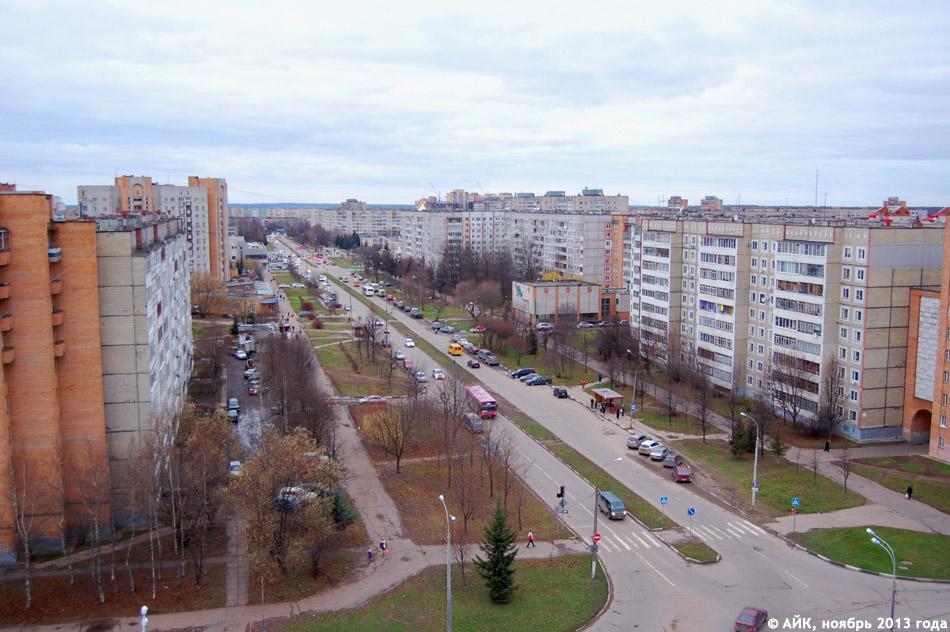 Улица Энгельса в городе Обнинске