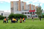 Соревнование по американскому футболу (5 июня 2010 года) в городе Обнинске