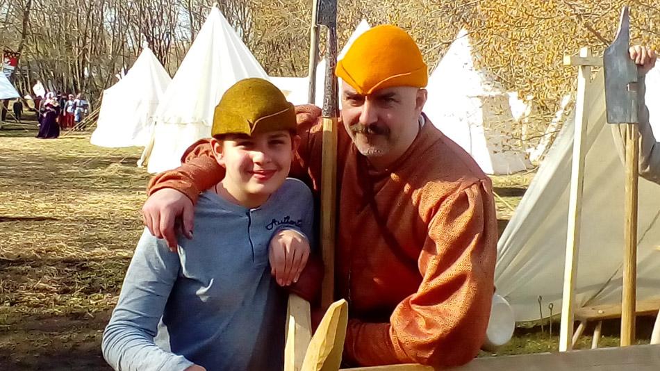 Александр Даниилович Блохин и известный историк Клим Александрович Жуков