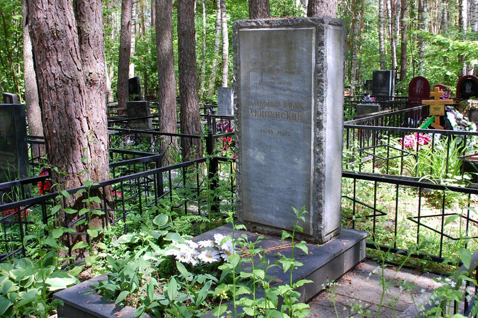 Могила Александра Ильича Лейпунского на кладбище «Кончаловские горы»