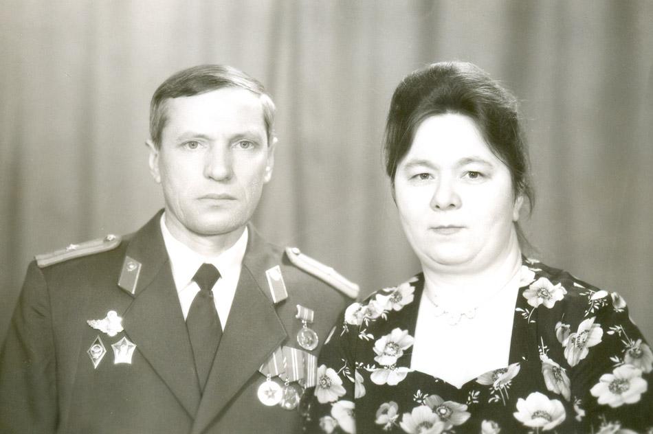 Алексей Иванович Власов с женой