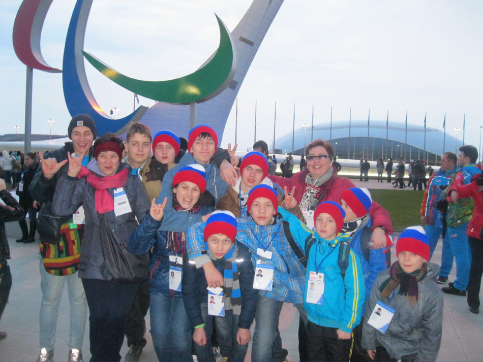 Хор «Алые паруса» на Паралимпийских играх в Сочи
