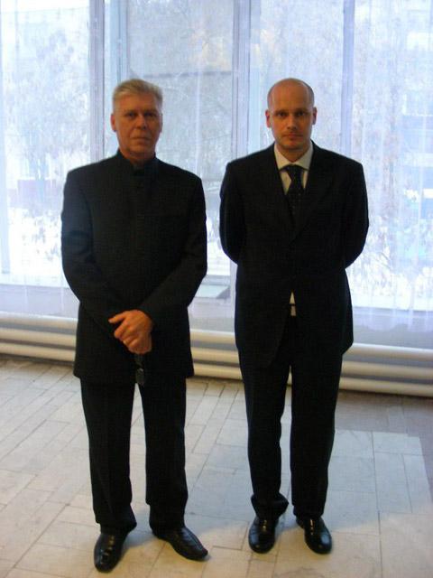 Андрей Игоревич Терёшин вместе с Егором Жуковым (внуком маршала Жукова)