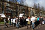 Митинг молодёжи против засилья мигрантов в городе Обнинске