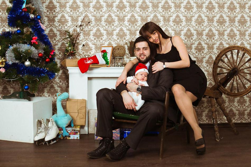 Семья Бевилаква Акино: Диего, Екатерина и Артур