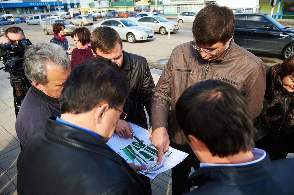 Благоустройство территории на пересечении улиц Московской и Железнодорожной