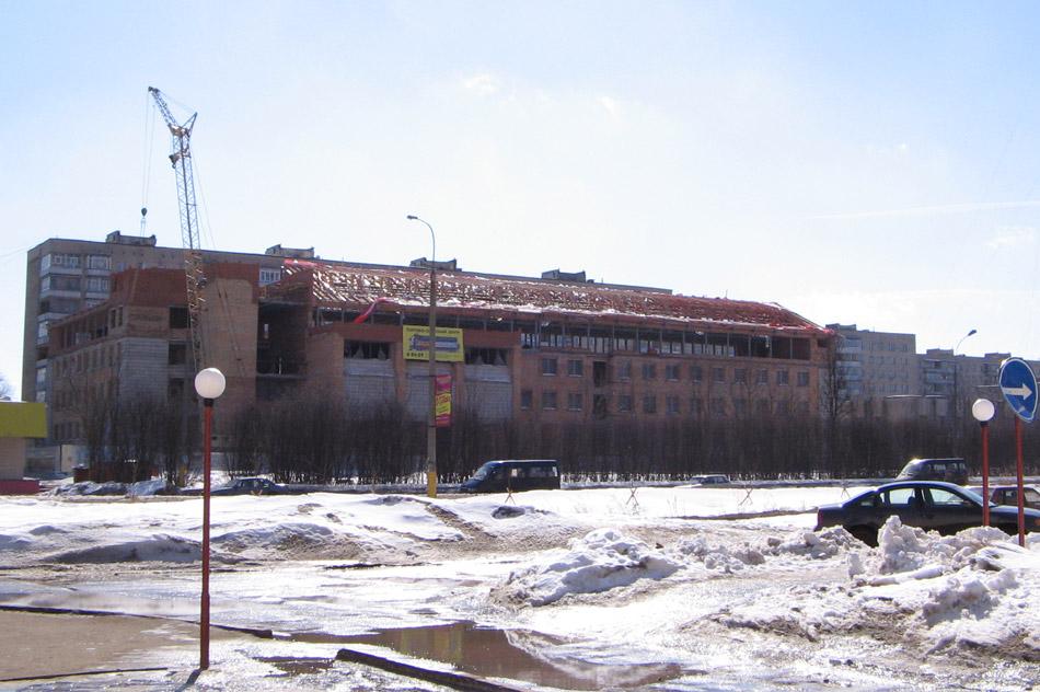 Внешний вид здания делового центра «Капитал» в городе Обнинске в марте 2006 года