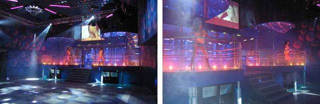 Танцпол и сцена развлекательного центра «Crazy Club» (Крейзи Клуб) в Обнинске