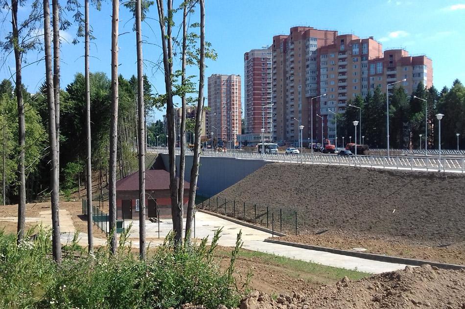 Дамба через Белкинский овраг в городе Обнинске