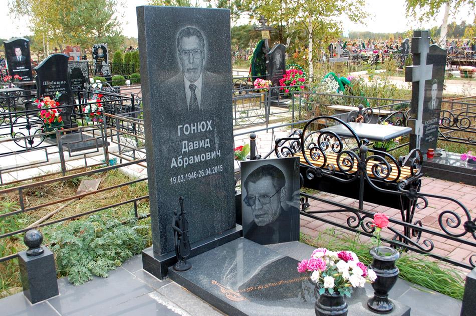Могила Давида Абрамовича Гонюха на кладбище «Передоль»