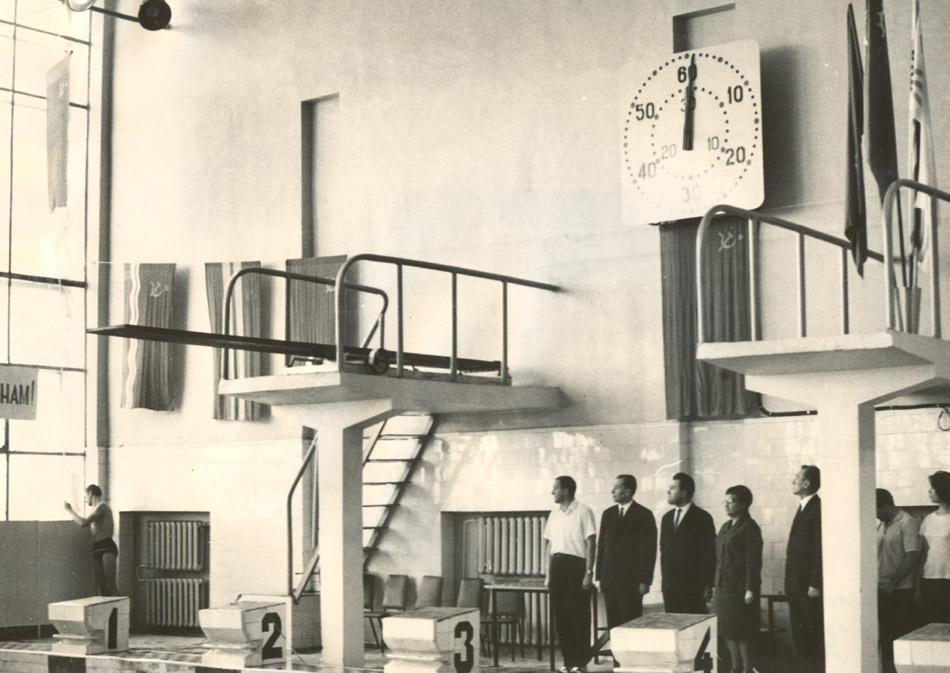 22 февраля 1969 года. Торжественная церемония открытия крытого бассейна с участием Нины Степановны Антоненко в городе Обнинске