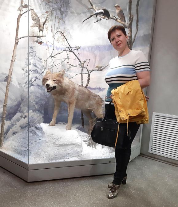 Елена Анатольевна Шигань в музее Приокско-Террасного заповедника (19 мая 2019 года)