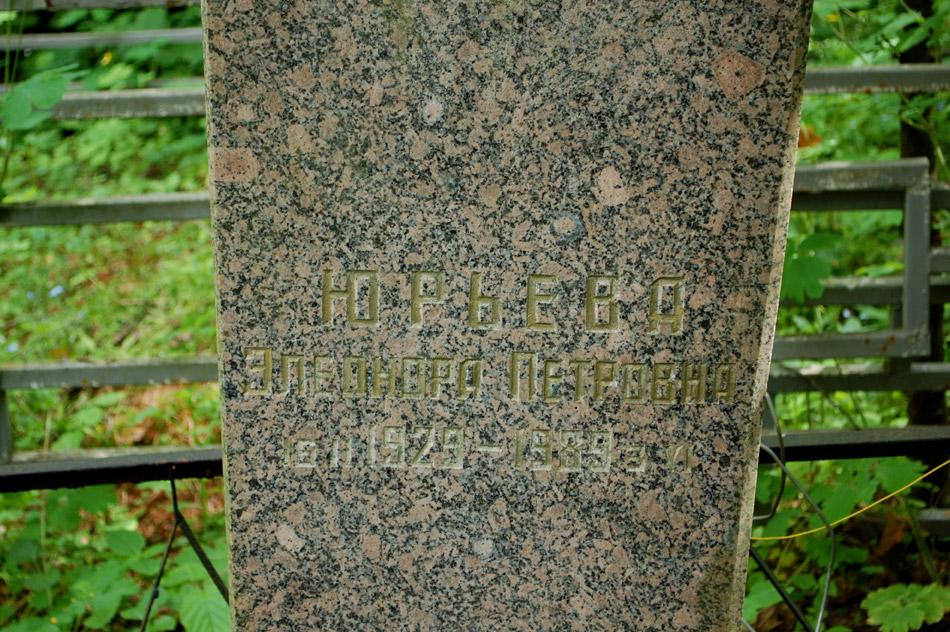 Могила Элеоноры Петровны Юрьевой на кладбище «Кончаловские горы»