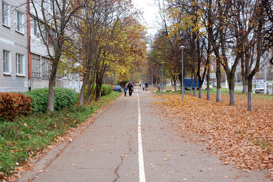 Улица Энгельса в городе Обнинске (октябрь 2016 года)