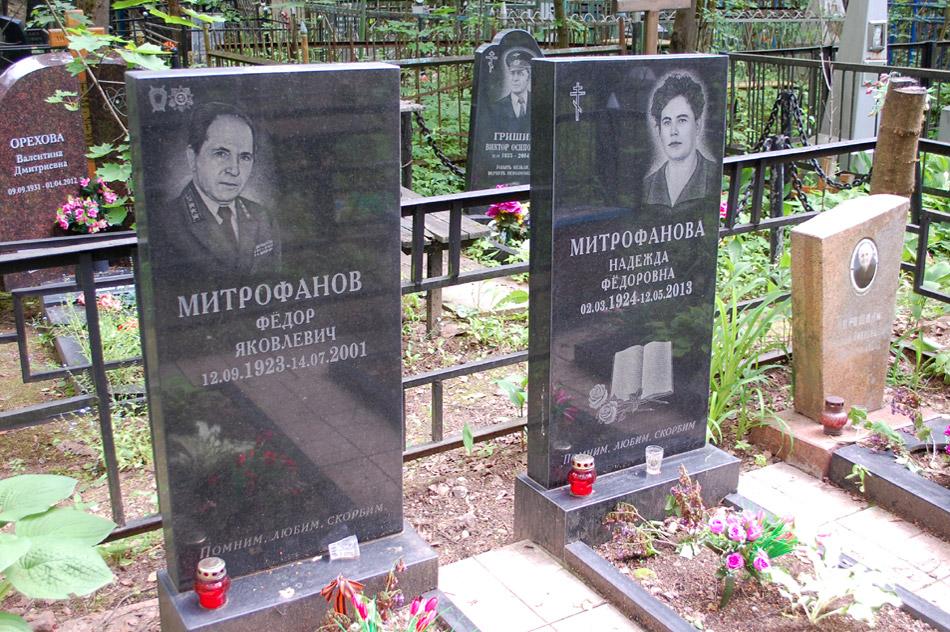 Могила Фёдора Яковлевича Митрофанова на кладбище «Кончаловские горы»