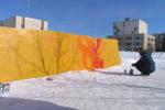 Конкурс граффити «Дарите девушкам цветы» в городе Обнинске