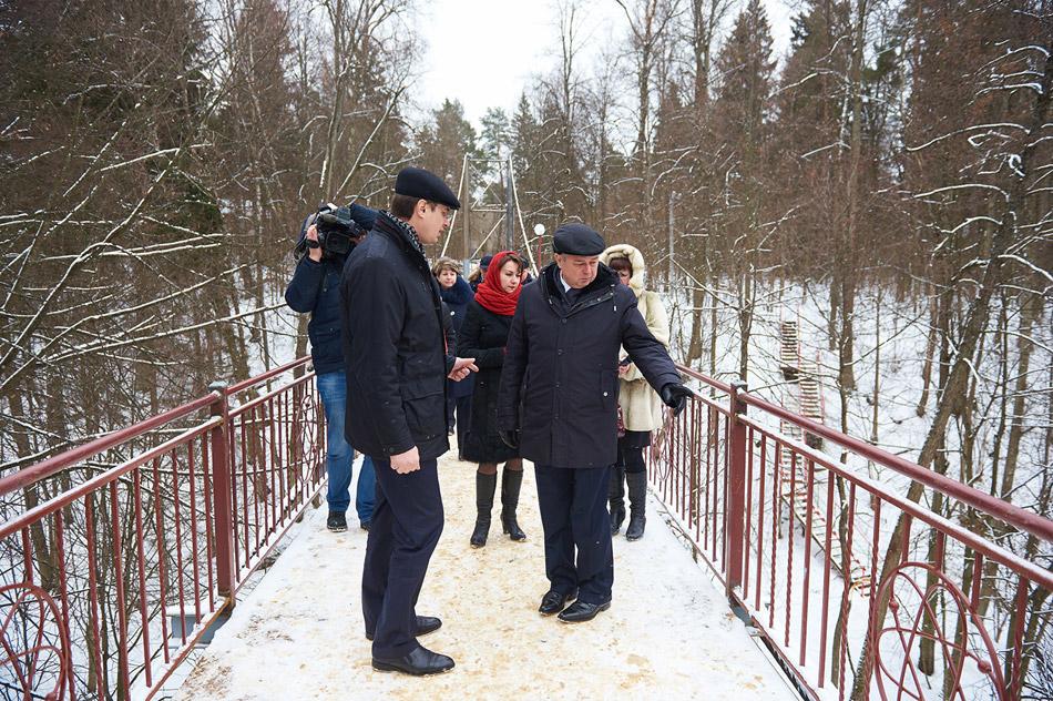 Губернатор Калужской области побывал на реконструированном мосту через Репинку
