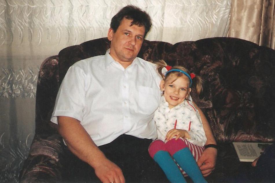 Игорь Викторович Шелудяков с дочерью Юлей