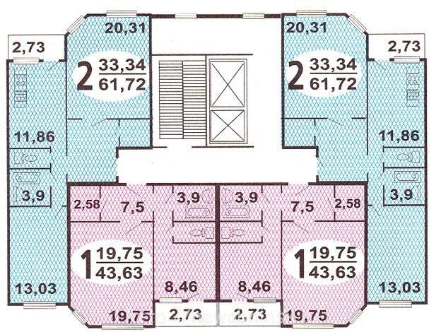 Жилой район «Заовражье» в городе Обнинске: планировки домов серии ИП-46 С
