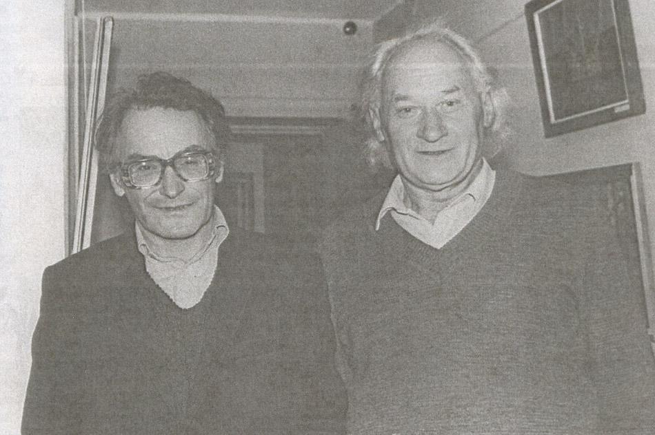 Владимир Иванов и Евгений Ворожейкин в 1984 году