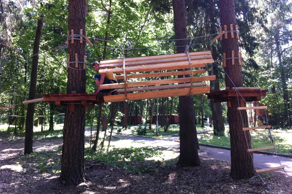В Городском парке открылся верёвочный аттракцион